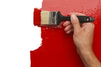 A thick coat of paint brushed onto a wall.