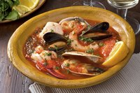 Use chunks of steamed rock lobster in a seafood stew.