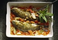 Baked fish with Indian spices is an easy, tasty entree.