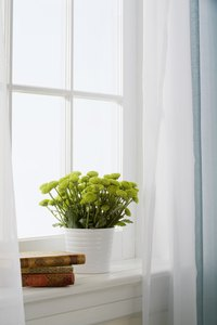 The window sill helps to keep moisture out of home interiors.