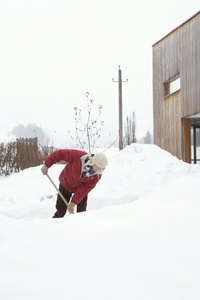 Heated driveways help prevent a need for excessive shoveling.