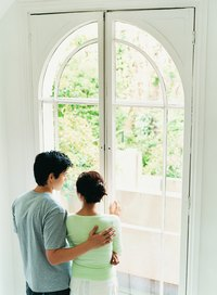Arched windows need custom-made rods.
