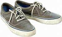 Canvas shoes quickly absorb moisture.