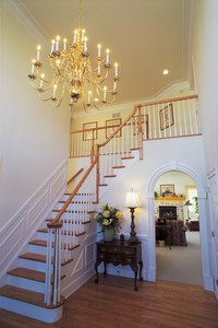Transform an ordinary staircase with tulle.