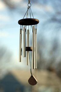 Taking wind chimes indoors during bad weather can prevent damage.
