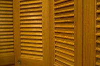 Keep your old folding closet doors to turn into room dividers.