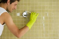 Grout gets dingy and dark over time.