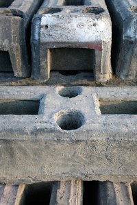 Cinder blocks and mortar can be used to form the body of a shower seat.