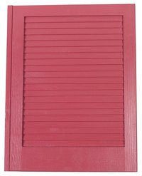 A louvered shutter gives privacy but allows air to flow easily.