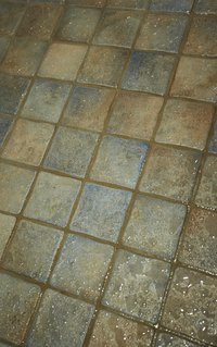 Dry out a wet bathroom subfloor to prevent rotting.