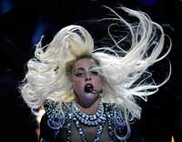 Lady Gaga often wears pointed shoulders in her performances.