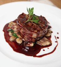 Serve beef tenderloin filet mignon and chateaubriand with a rich pan sauce.