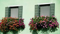 Not all artificial flowers are suited for outdoor use in window boxes.