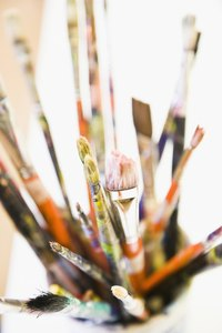 Renew your old paintbrushes instead of buying new ones.