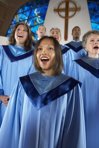A choir robe doesn't have to cost a million bucks for the choir to look good.
