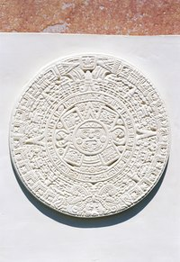 The Aztec calendar divides the days between the different gods and events.