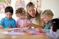 Craft activitites help children to understand Biblical stories.