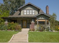 This Craftsman-style home has numerous architectural details.