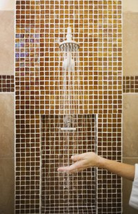 Determine the height for your bathroom tiles to get a professional look.