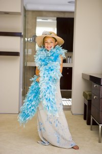 Make a twist on a classic feather boa with organza ribbon.