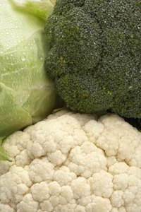Cauliflower, broccoli and cabbage are all part of the Cruciferae vegetable family.