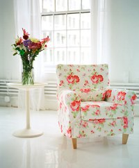 Give an old chair new life with fresh, new fabric.