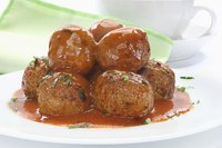 Meatballs can be sweet or spicy, served in sauce or on sticks.