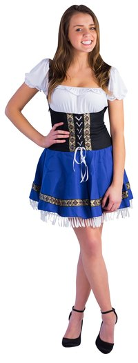 The dirndl is a traditional German dress that originated with alpine peasants.