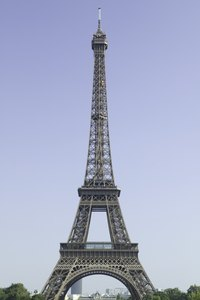 Replicate the Eiffel Tower out of wire for a school project or a home decoration.