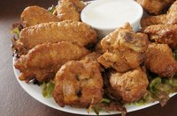 Separate the chicken wings at the joints and fry the pieces separately