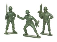 Toy soldiers are inexpensive to produce and easy to obtain.