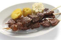 Beef heart skewers, or anticuchos, are a signature Latin American dish.