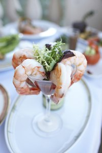 Keep cold shrimp dishes cold to avoid spoilage.