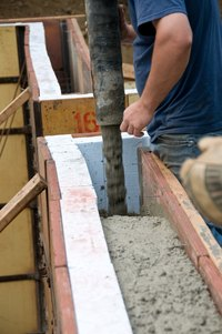 Insulation can be blown in during or after construction.