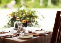 A tablecloth can be dyed to match any decor.