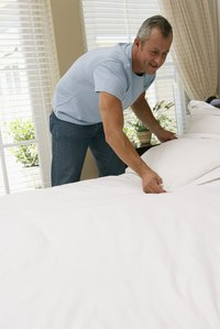 Plumping your pillows every day ensures their fluffy comfort.