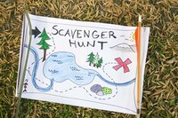 Scavenger hunts are popular seek and find games for all ages at parties.