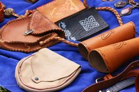 Leather should be tooled or decorated before hand sewing the seams.