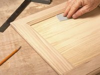 Sanding by hand gives you more control.
