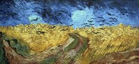 "Van Gogh's ""Wheat Field with Crows"" displays a texture similar to ""Starry Night."""