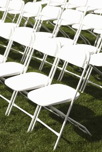Folding chairs can accommodate unexpected guests.