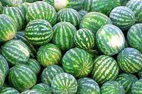 Light patches indiate watermelon freshness.