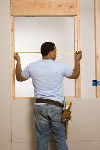 A window in a load-bearing wall needs an oversized lintel.