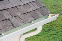 Water that falls behind gutters can cause home damage.