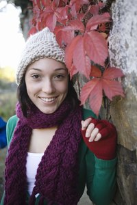 Fingerless gloves are ideal for cool fall weather.