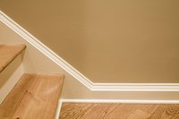 A baseboard running diagonally up your staircase is common.