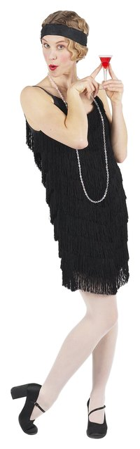 Create your own flapper dress for a unique Halloween costume.
