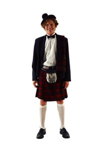 Originating from Scotland, kilts are pleated skirts for men.
