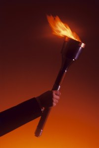 In medieval times, torches provided an important source of light.