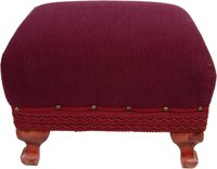 Recover a tired old ottoman -- no sewing required.